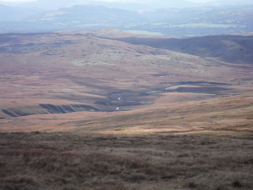 Southerly View from Picws Du: Cefn Twrch, Afon Twrch and Shake Holes Area