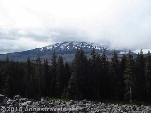 A cloudy Mt. Hood from the Rock Pile, Mount Hood National Forest, Oregon