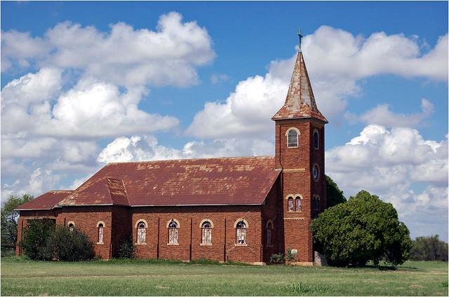 Abandoned church, Bomarton, Texas