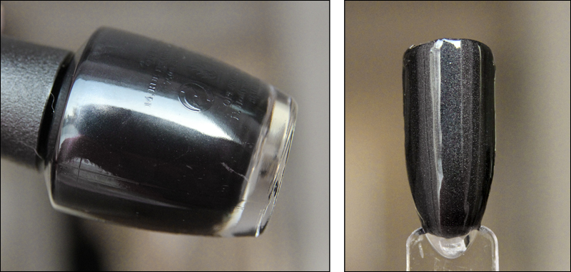 OPI black dress not optional swatch