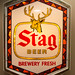 eBay Set - Stag Beer Electric Lighted Bar Sign, Advertising, Buck Logo, Brewery Fresh, 1982 G Heileman Brewing Co - 001