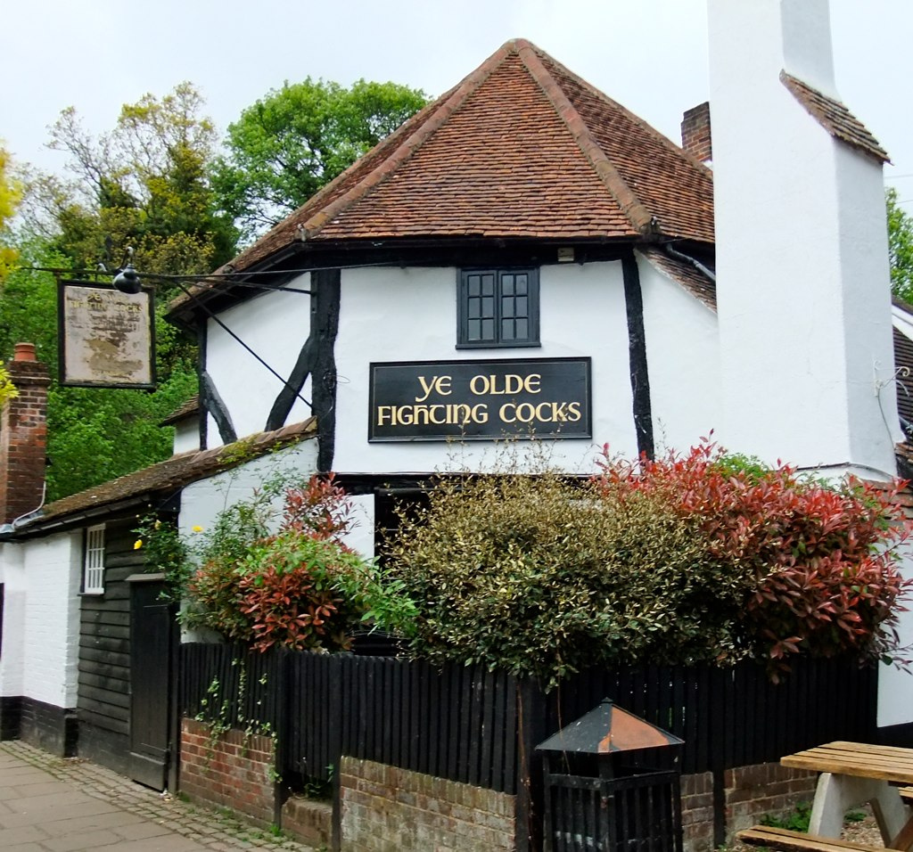 Ye Olde Fighting Cocks public house in St Albans, Hertfordshire. Photo credit guylaine_lheureux