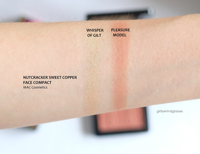 MAC Nutcracker Sweet Copper Face Compact swatches