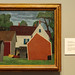 Farm Buildings painted by Niles Spencer, the Ackland, UNC Chapel Hill