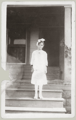 Young Woman on steps