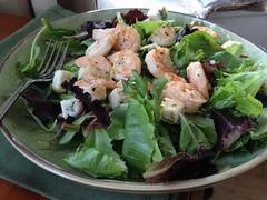 meal, spinach salad, salad, seafood, leaf vegetable, produce, food, dish, cuisine, caesar salad,