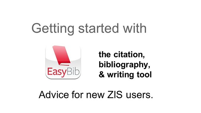 EasyBib Advise for new ZIS users
