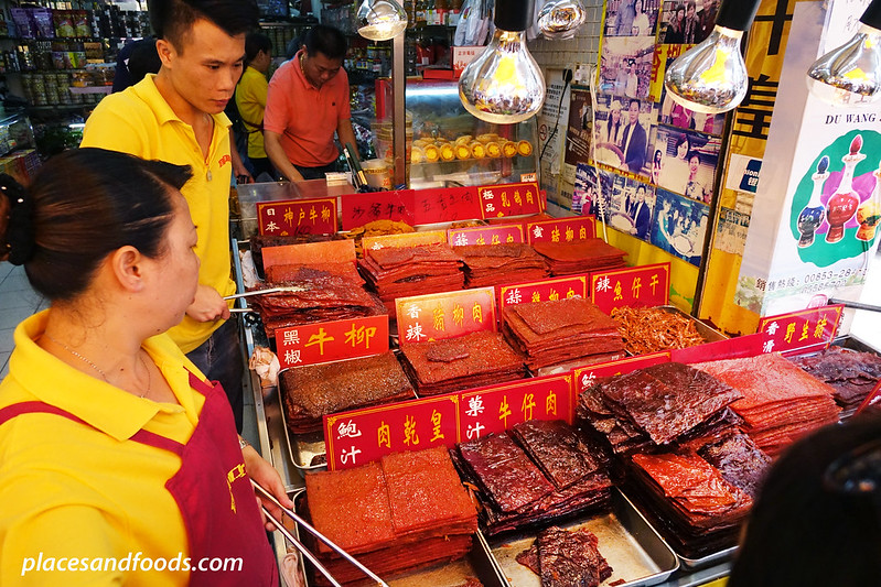 macau top 12 food sweet pork jerky