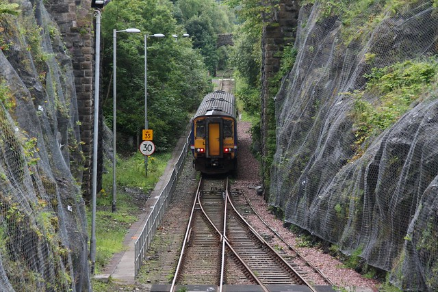 156485 departs Oban working the 1711 to Edinburgh