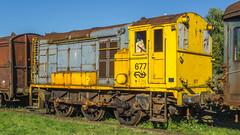 Loc 677-11 van de Zuid-Limburgse Stoomtrein Maatschappij (ZLSM) te Simpelveld ( Zuid-Limburg)