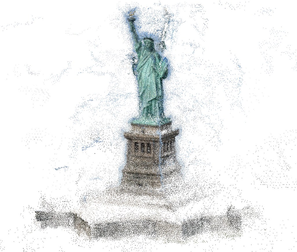 3D Dense Reconstruction of the Statue of Liberty