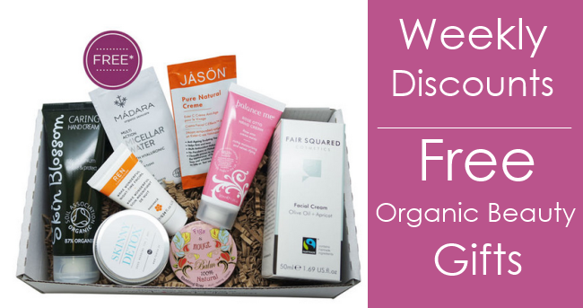 Weekly Discounts and Free Organic Beauty Gifts #37