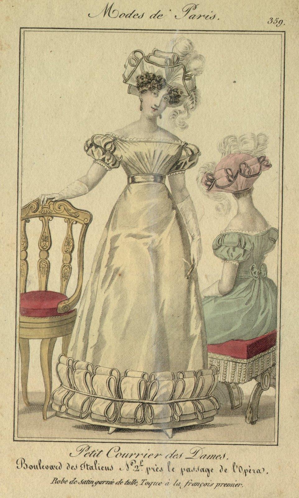 Gravure de mode 1826