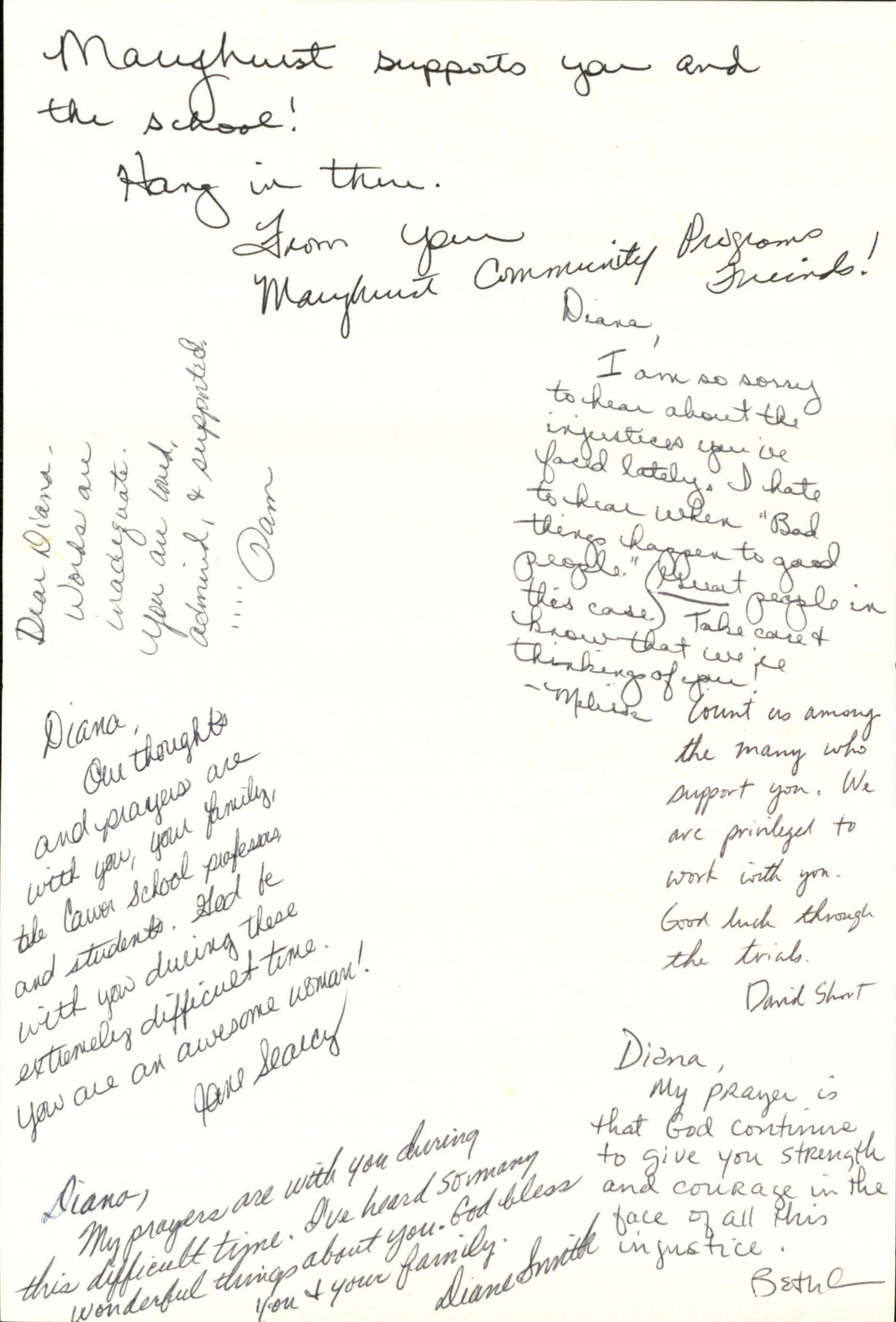 Diana Garland letter of support
