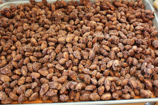 Spread Candied Nuts or Seeds on to a lined cookie sheet to cool. Be sure to break up any large pieces right away.