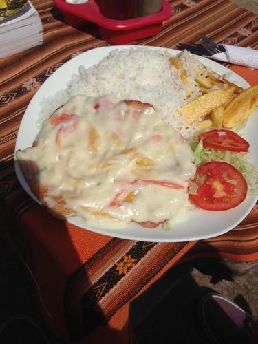 The Food at El Fagon.  Copacabana, Bolivia.
