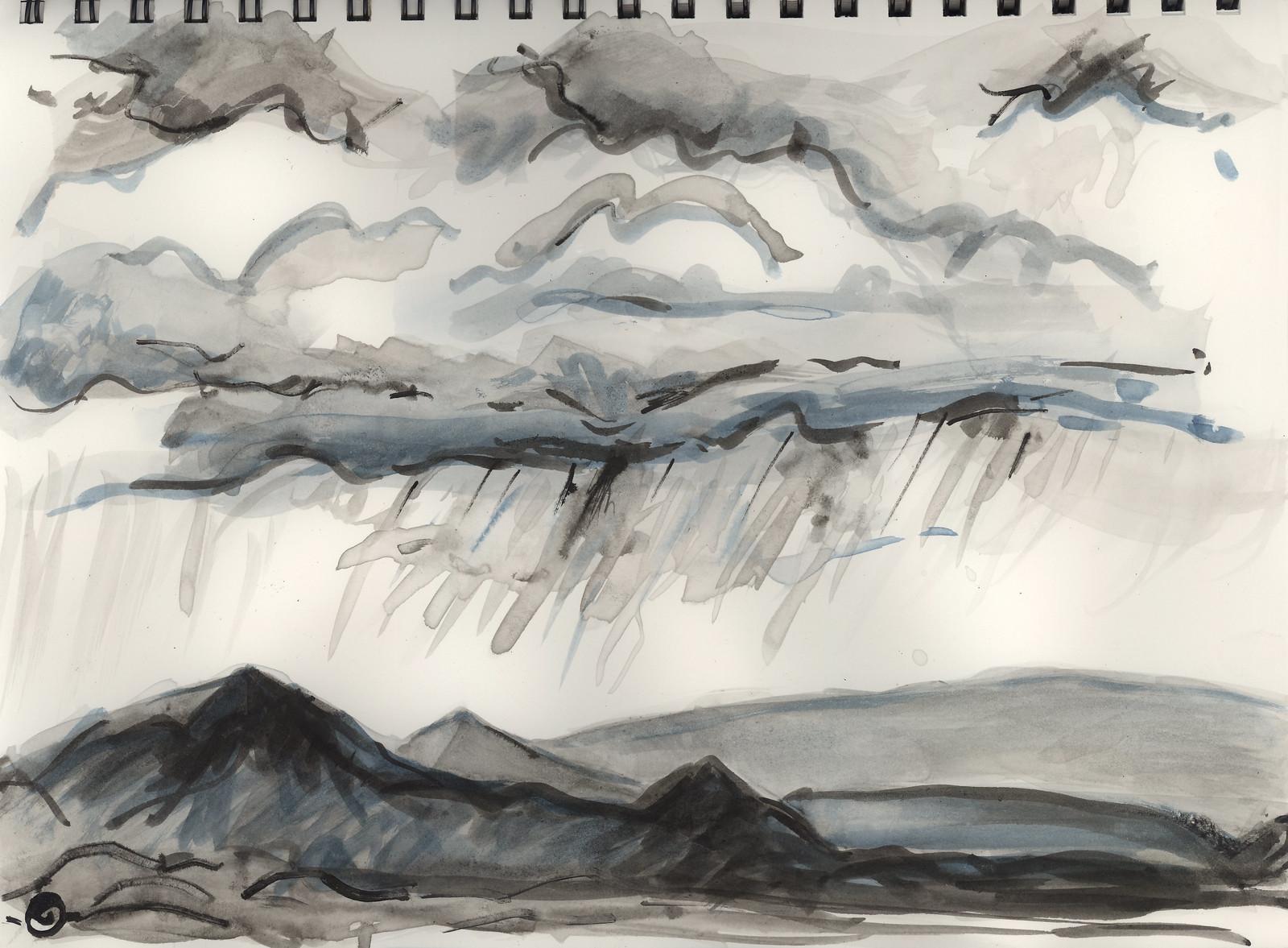 Rain, Jemez Mountains