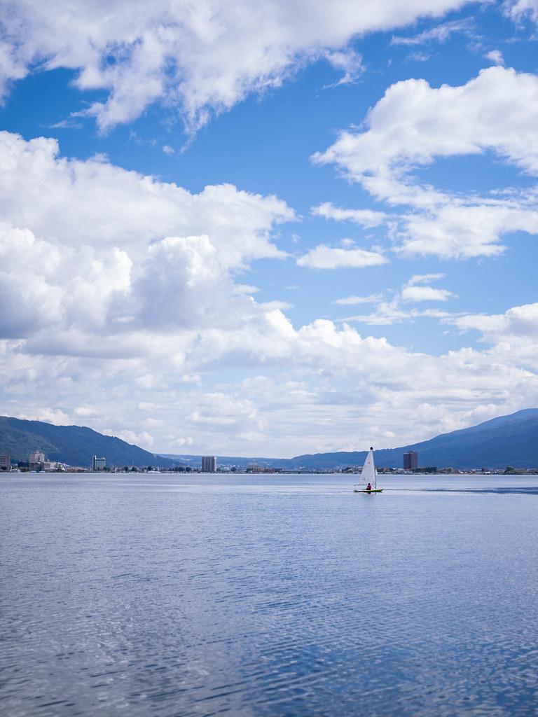 諏訪湖 ヨット