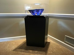 Black Laminate Pedestal with Glass Bowl