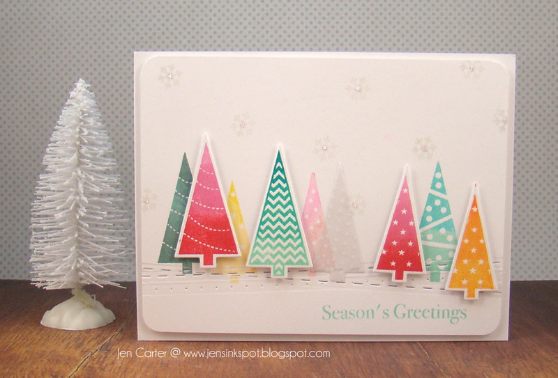 Jen Carter Colorful Christmas Trees 2