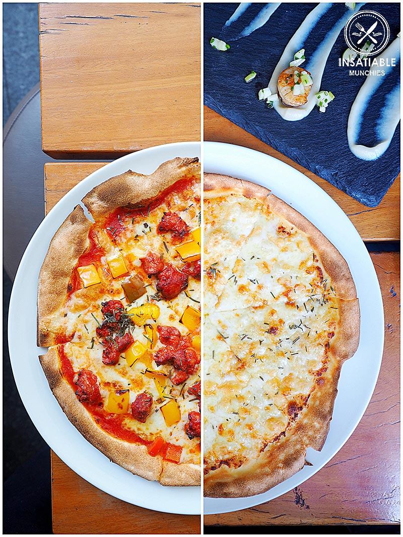 Nomad's hot chorizo, red pepper and rosemary ($19.50), and the Garlic Pizza ($8.50). Vessel Italian and Bar, Sydney: Sydney Food Blog Review