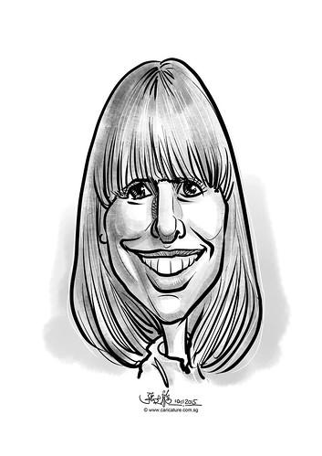 digital caricature for eBay - Morris, Amber