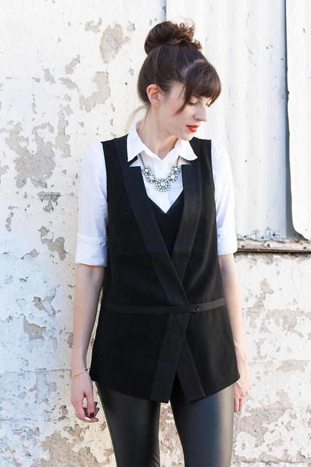 Tuxedo Vest, Bannana Republic, Date Night Outfit