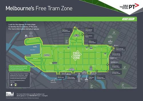 Free Tram Zone Map