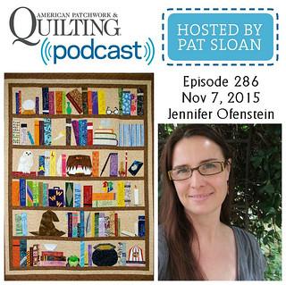 American Patchwork Quilting Pocast episode 286 Jennifer Ofenstein