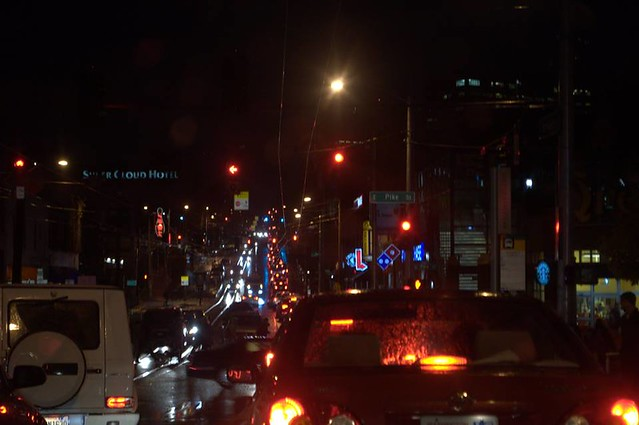 Evening Rush Hour, Broadway and Pike