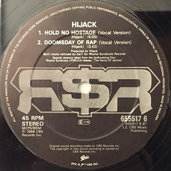 HIJACK:THE BADMAN IS ROBBIN'(LABEL SIDE-B)