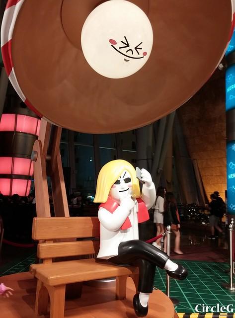 CIRCLEG 徵圖 世界各地聖誕裝飾 2015 香港 旺角 朗豪坊 LINE 熊大 兔兔 莎莉 BROWN CONY SALLY (1)