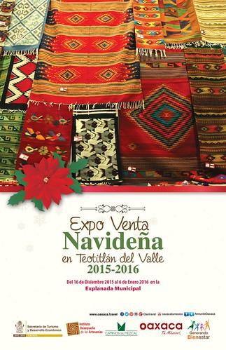 Expo Venta Navideña en Teotitlán del Valle, #Oaxaca. Del 16 de Diciembre de 2015 al 6 de Eero de 2016 en la explanada