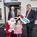 Official opening of new Holywood social homes, 17 December 2015