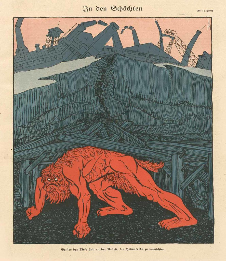 Thomas Theodor Heine - In The Shafts, 1919