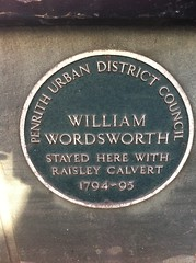 Photo of William Wordsworth green plaque