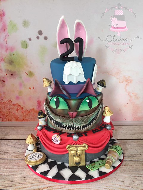 Warped Wonderland Cake by Claire Willmott of Claire's Custom Cakes
