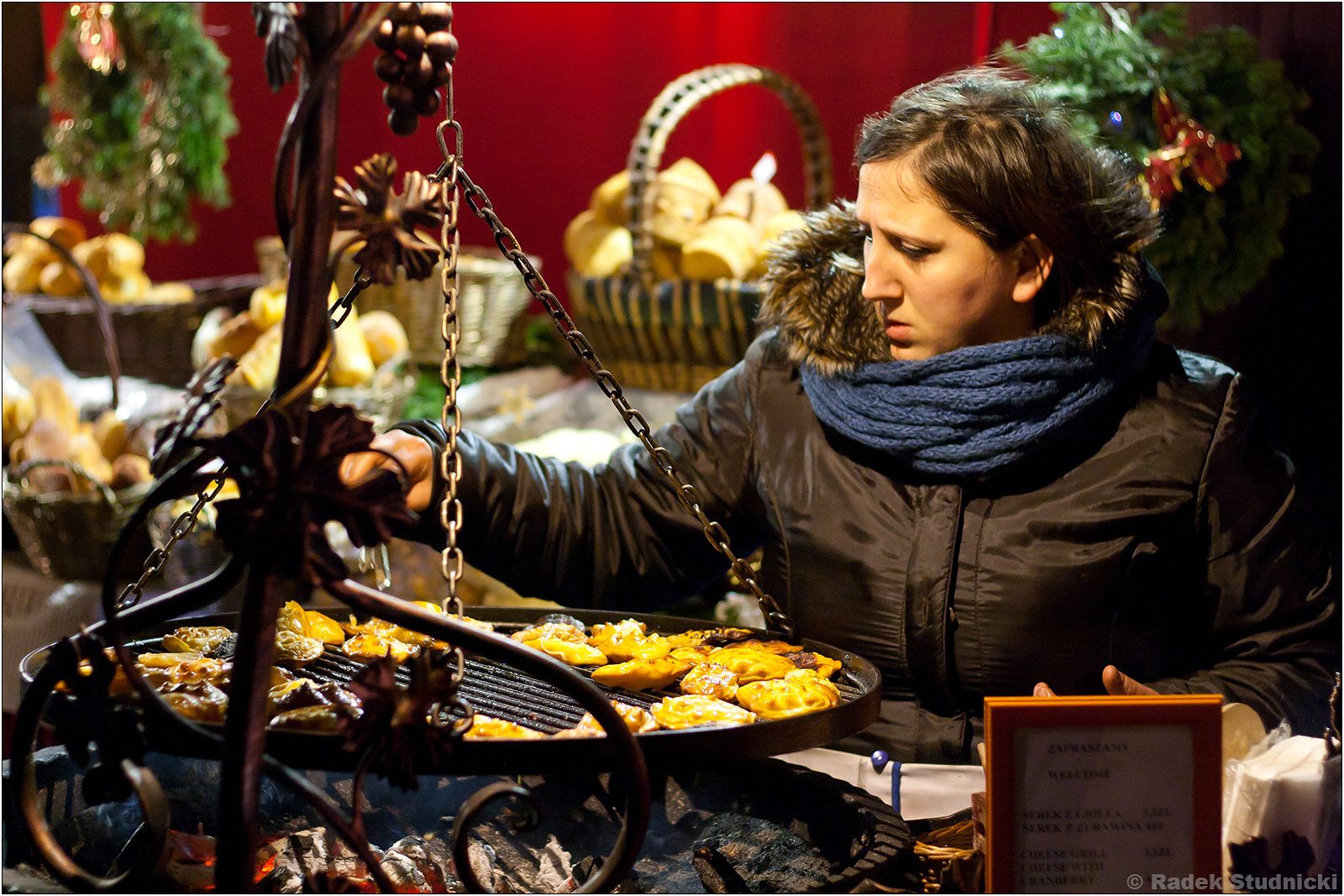 Kiermasz świąteczny w Krakowie: Oscypki