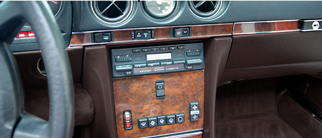 MERCEDES SL W107 R107 560SL 280SL 300SL WURZELHOLZ Armaturenbrett ... | {Armaturenbrett mercedes 42}