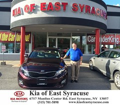 Congratulations Michael on your #Kia #Optima from Eduardo Castillo at Kia of East Syracuse! #NewCar