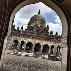 (mausoleum) The beautiful Ibrahim Rouza is among the most elegant and finely proportioned Islamic monuments in India. Its 24m-high minarets are said to have inspired those of the Taj Mahal, and its tale is similarly poignant: built by emperor Ibrahim Adil