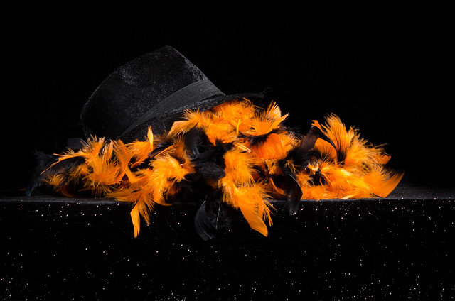Hat and Feather Boa