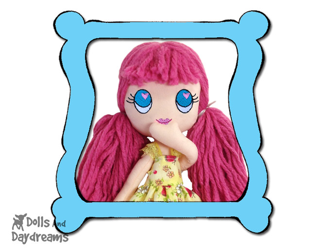 Poppy Machine Embrodery Doll Face Pattern