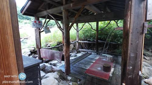 kuroyu onsen outdoor shower area