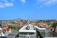 Amsterdam (View across the city,from the Oude Kerk tower)