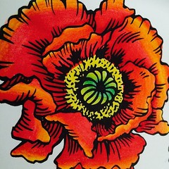 @stampendous #stampendous Jumbo Poppy with @chameleonpens #chameleonpens #alcoholmarkers  #coloring just for fun http://enjoyscrappin2.com