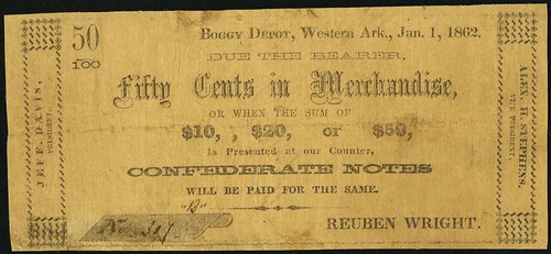 Boggy Depot Western Arkansasv50cent note