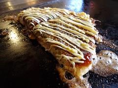 Japanese Pork and Egg Pancake Okonomiyaki Lunch @K…