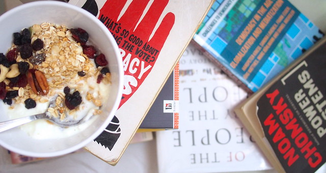 a diet of yoghurt and muesli and political theory for breakfast