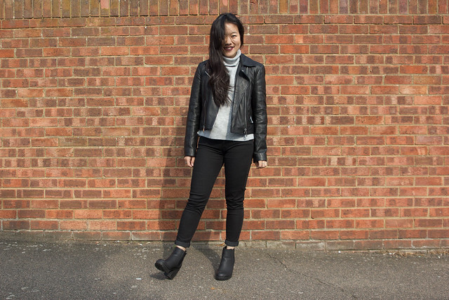 Outfit Post: Knit & Leather